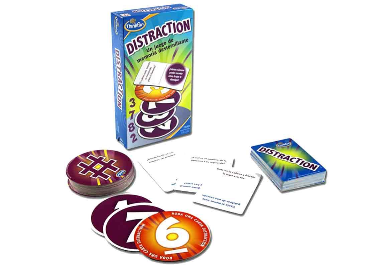 caja y cartas juego distraction