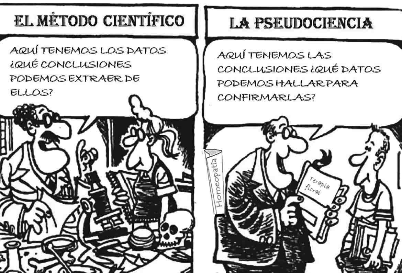chiste sobre metodo cientifico y pseudociencia