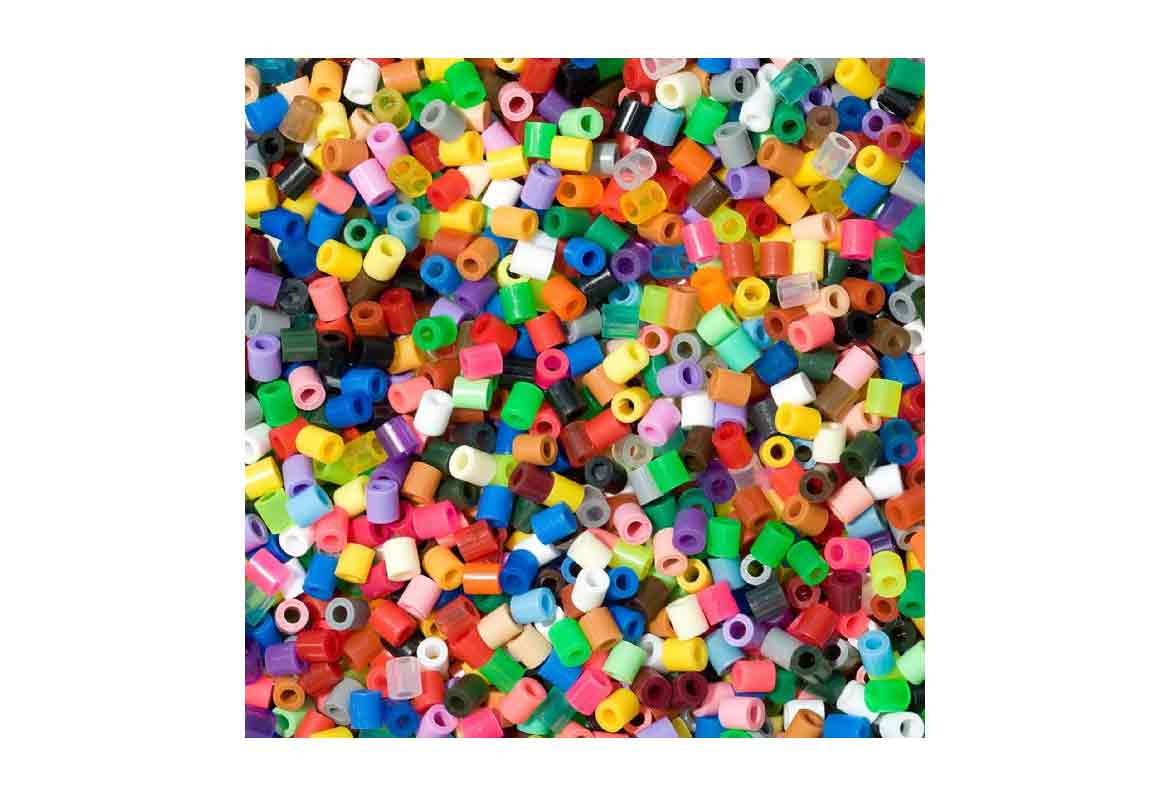 fichas de hama beads multicolores